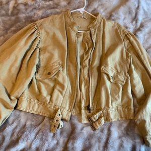 Free People Size Medium burnt yellow jacket